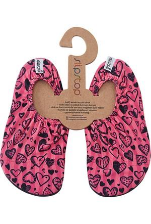 Slipstop Black Heart Junior Kız Çocuk Kaydırmaz Ayakkabı/Patik