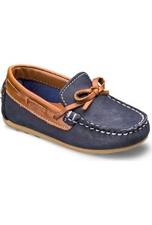 Vicco Fiyonklu Bebe Deri Ayakkabı Lacivert A