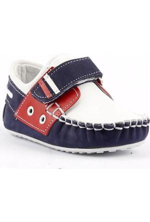 Teo Bebe 3500 %100 Deri Ortopedik Cırtlı Erkek Çocuk Ayakkabı