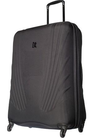 It Luggage Kumaş Büyük Boy Valiz It1031-L Siyah