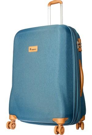 It Luggage Kumaş Orta Boy Valiz It1591-M Mavi