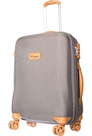 It Luggage Kumaş Kabin Boy Valiz It1591-S Gri