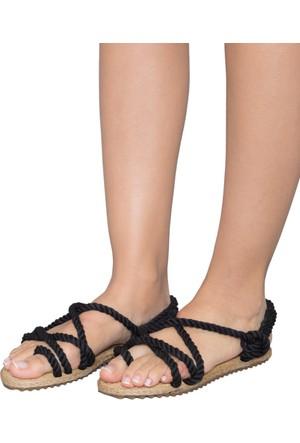Gio&Mi F3 Siyah Lacivert Sandalet