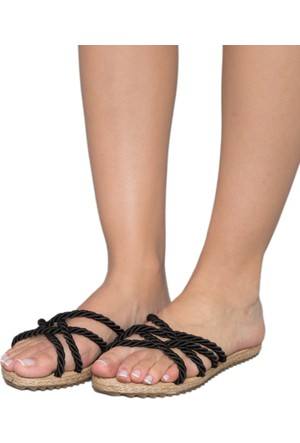 Gio&Mi F6 Siyah Lacivert Sandalet