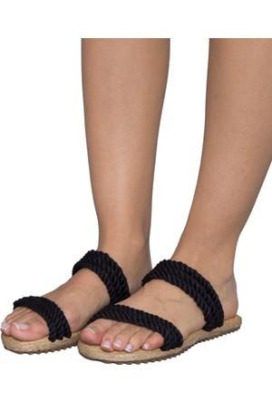 Gio&Mi F9 Siyah Lacivert Sandalet