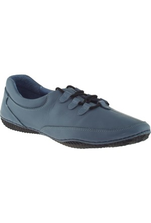 Estile 101-036 Bağlı Mavi Bayan Ayakkabı
