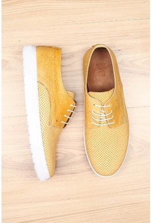Crops Sport Sarı Hakiki Deri Ayakkabı