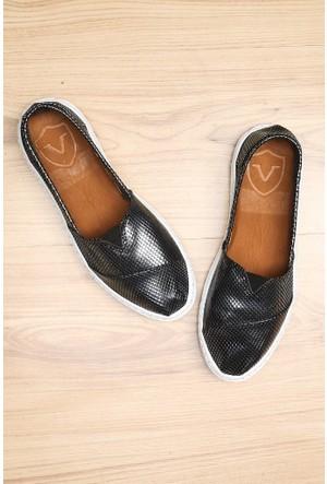 Limited Edition Antrasit Bayan Hakiki Deri Ayakkabı