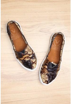 Limited Edition Kahverengi Bayan Hakiki Deri Ayakkabı