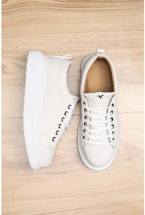 Limited Edition Beyaz Bayan Baloon Taban Ayakkabı