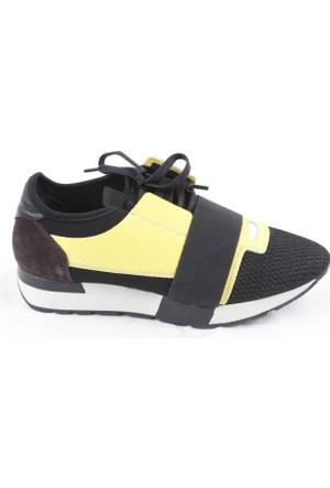Veyis Usta Kuşaklı Önü Fileli Bayan Spor Ayakkabı K