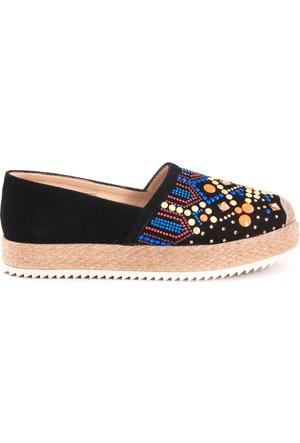 Rouge Kadın Espadril Ayakkabı Siyah 171RGK342 TRS01