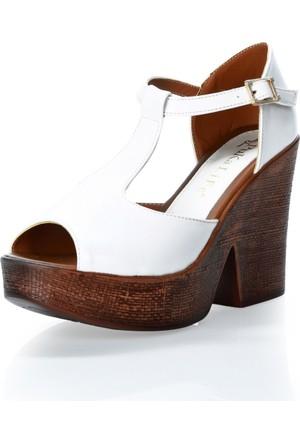 Puka Home Puka4139R4 Beyaz Dolgu Taban Ayakkabı