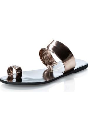 Mag Shoes 100 Bakır Taşlı Parmak Arası Ayakkabı