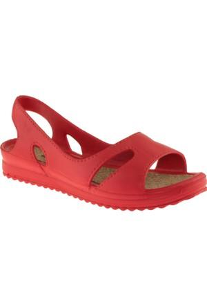 Muya 92140 Mantar Taban Kırmızı Kadın Sandalet