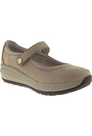 Joya Mary Jane II Ortopedik Gri Kadın Ayakkabı