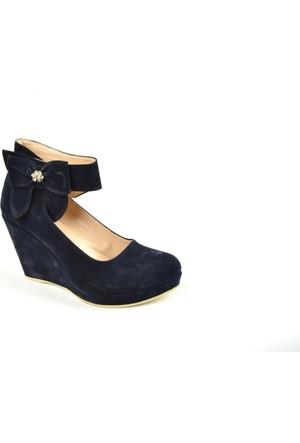 Ebru ZN Dolgu Topuk Atkılı Bayan Ayakkabı