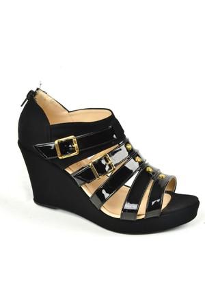 Kaplan ZN 134 Dolgu Topuk Bayan Sandalet Ayakkabı