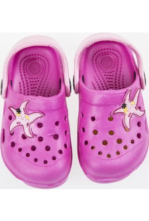Soobe Kız Çocuk Crocs Terlik Pembe