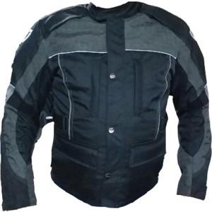 dot cycle su ve rüzgar geçirmez cepli full korumalı siyah gri kısa motosiklet montu - m - siyah - gri