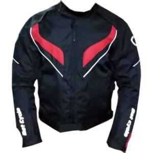 dot cycle su ve rüzgar geçirmez full korumalı kırmızı siyah motosiklet montu - s - siyah - kırmızı