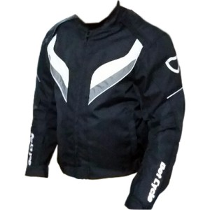 dot cycle su ve rüzgar geçirmez full korumalı gri siyah motosiklet montu - m - siyah - gri