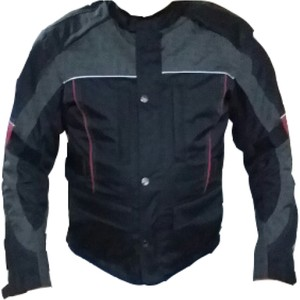 dot cycle su ve rüzgar geçirmez cepli full korumalı kırmızı siyah kısa motosiklet montu - s - siyah - kırmızı