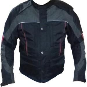 dot cycle su ve rüzgar geçirmez cepli full korumalı kırmızı siyah kısa motosiklet montu - m - siyah - kırmızı