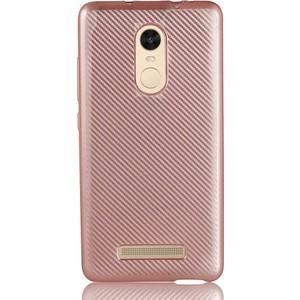 coverzone xiaomi redmi note 3 kılıf karbon silikon 3d araç kokusu - rose gold