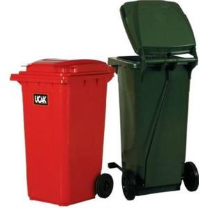 ikram dünyası plastik çöp konteyner yeşil 120 lt.
