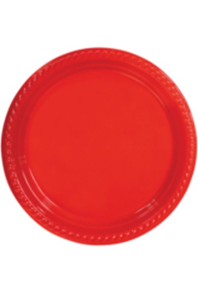 PartyTime Kırmızı Yuvarlak Tabak