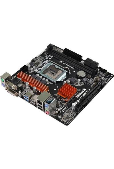 Asrock H110M-DVS R3 Intel H110 1x PCIe x16 G3 2133MHz DDR4 mATX Anakart(ASRH110M-DVS-R3)