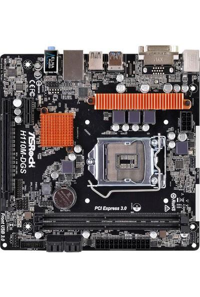 Asrock H110M-DGS R3 Intel H110 1x PCIe x16 G3 2133MHz DDR4 mATX Anakart(ASRH110M-DGS-R3)