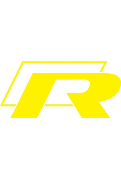 Smoke Wolkswagen R 2D Sticker Sarı