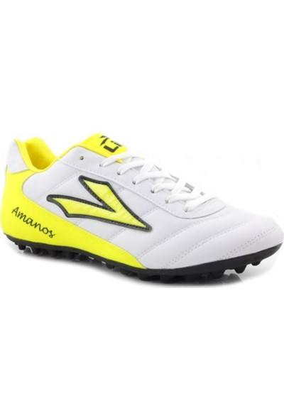 Lig Amanos Erkek Beyaz Halı Saha Spor Ayakkabı