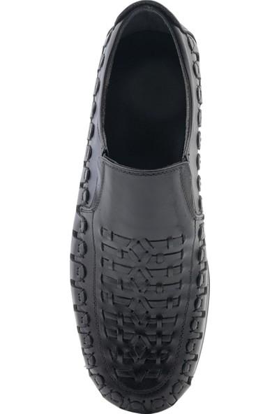 Tractor Hakiki Deri Delikli Günlük Yazlık Erkek Ayakkabı