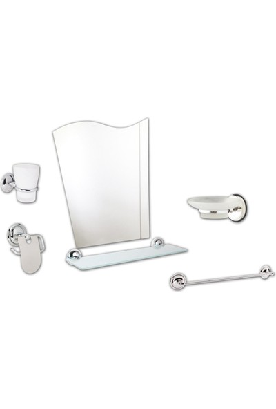 Saray Banyo 6 Parça Ayna Takımı Seti