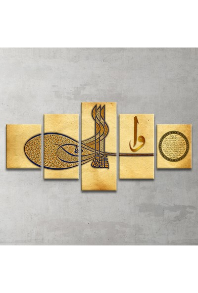Plustablo Özel Tasarım 5 Parça Kanvas Tablo