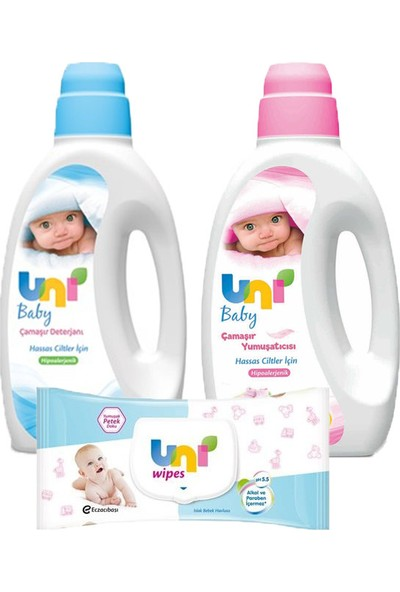 Uni Baby Bebek Deterjanı-Yumuşatıcı-Islak Mendil