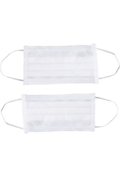 Özmeriç Lastikli Maske (BEYAZ) 100'lü 1 Paket