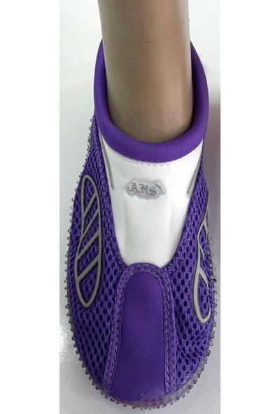 Ahs Lila - Beyaz Fileli Deniz Ayakkabısı