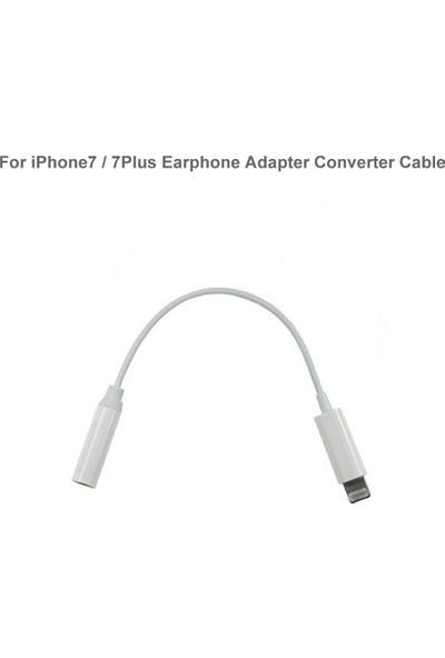 Atolla Apple iPhone 5/6/7/Plus Kulaklık Çevirici 15cm Lightning To Aux