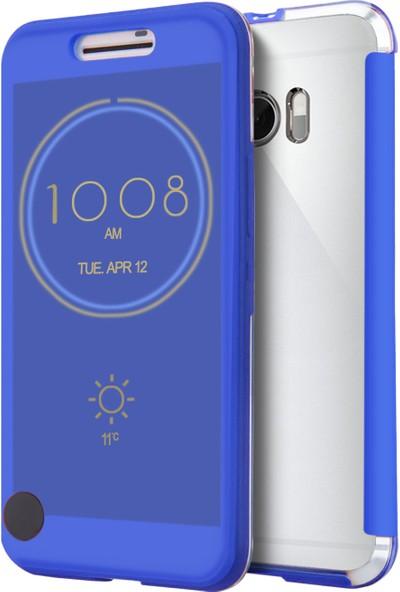 Microsonic HTC 10 kılıf Ice View Delux kapaklı Akıllı Modlu