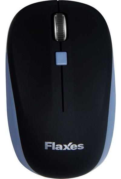 Flaxes FLX-925Gs Kablosuz Wireless 2.4GHz 1600 DPI Siyah Gri Mouse