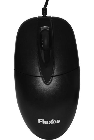 Flaxes FLX-819S USB Siyah Kablolu Mouse 1000 DPI Blister Kutu