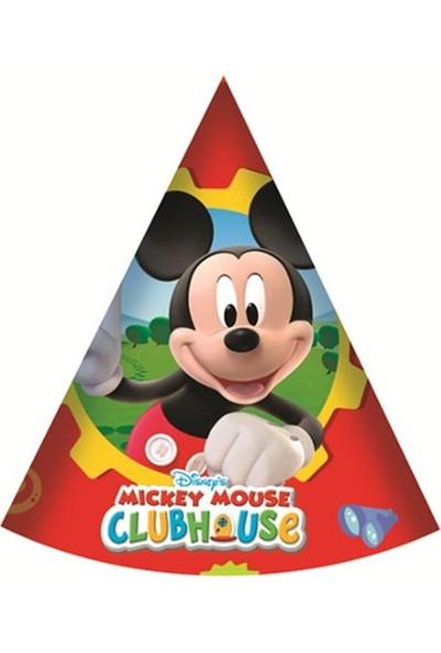 Partypark Mickey Mouse Parti Şapkası (8 Ad)