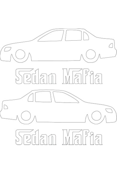 Smoke Sedan Mafia E12 Sticker