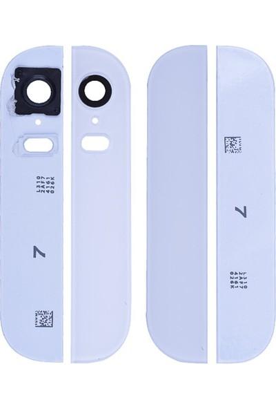 Casecrown iPhone 5S Orj Arka Alt Ust Kamera Lens Kapak Full - Beyaz