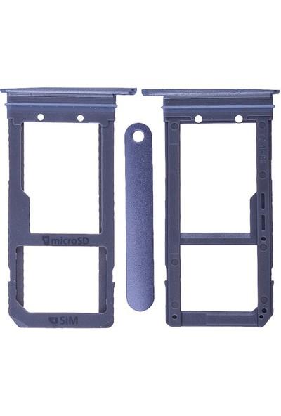 Casecrown Samsung Galaxy S7 Edge G935 Orj Sim Hafıza Kart Kapağı - Füme
