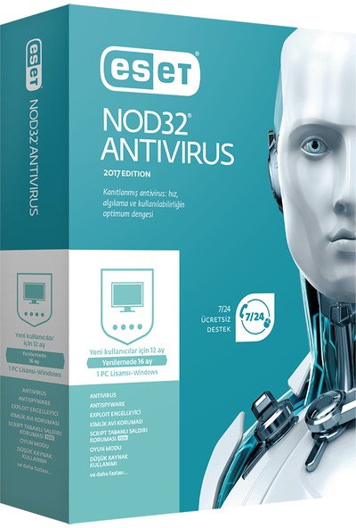 Eset NOD32 Antivirüs V11 - 1 Kullanıcı Kutu